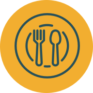 Restaurant Glasschrank Steak & Meer logo icon